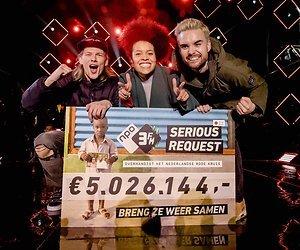 Ruim 5 miljoen voor Serious Request 2017