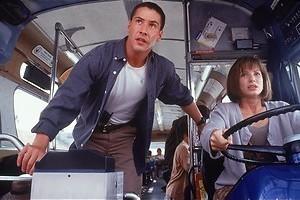 Keane Reeves en Sandra Bullock racen door L.A.