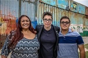 Trotse bewoners langs de grens