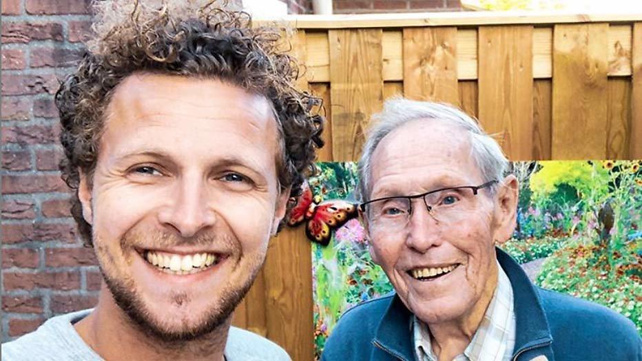 Tim Senders en opa Frits