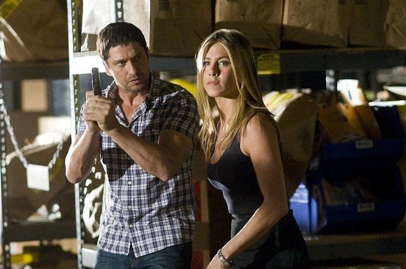 Gerard Butler zit achter Jennifer Aniston aan