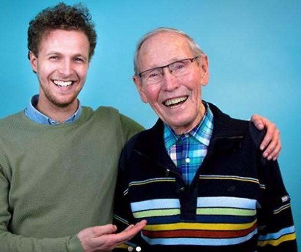Streetlabber Tim Senders maakt webserie met opa Frits