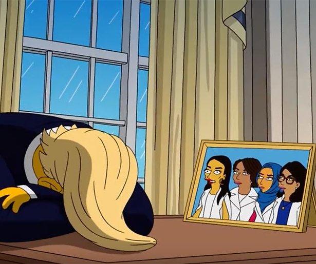 Videosnack: Makers The Simpsons nemen president Trump op de hak