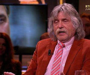 Johan Derksen weigert een blad voor de mond te nemen