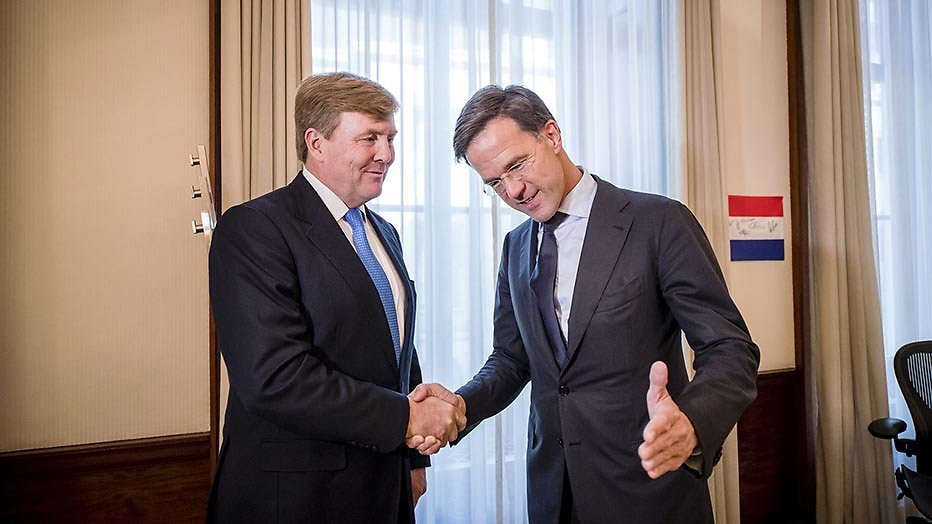 Presentatie Kabinet Rutte III bij NOS