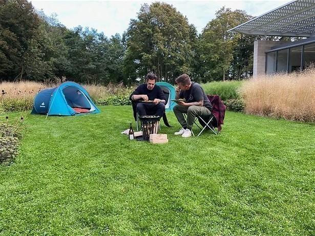 Kamperen in een museumtuin