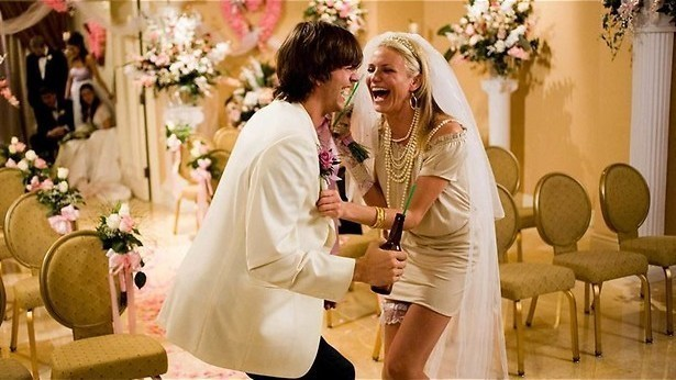 Cameron Diaz trouwt met Ashton Kutcher